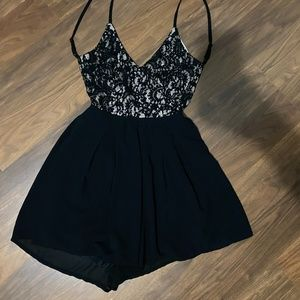 Lace Top Romper